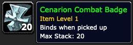 Cenarion Combat Badge