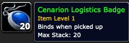 Cenarion Logistics Badge