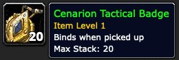 Cenarion Tactical Badge