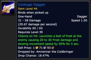 Coldrage Dagger