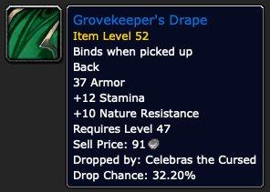 Grovekeepers Drape, mara dropped nature resistance gear