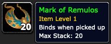 Mark of Remulos from Silithus Field Duty