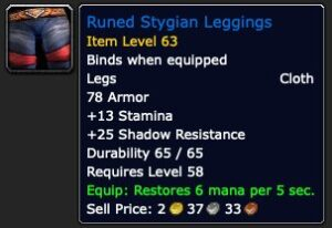 Runed Stygian Leggings