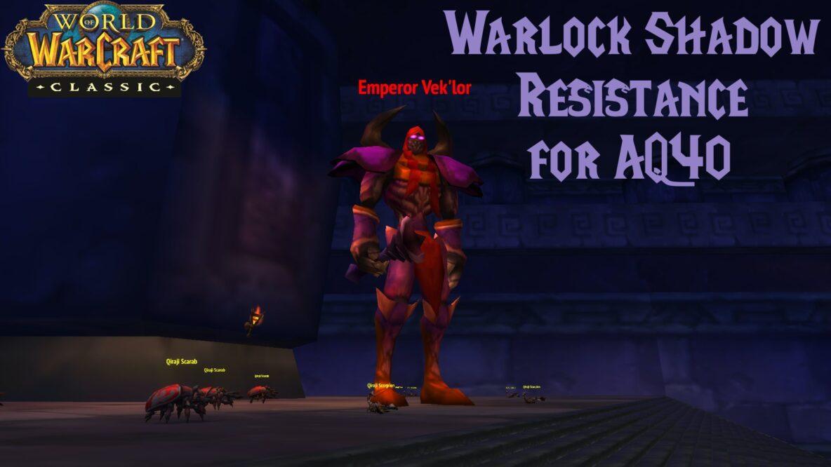 Warlock Shadow Resistance