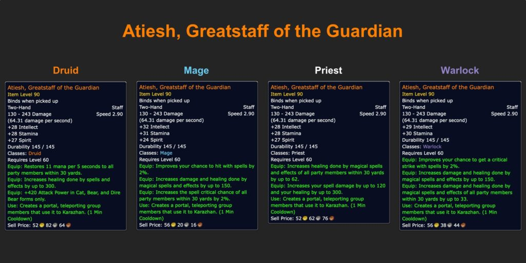 Atiesh Greatstaff of the Guardian