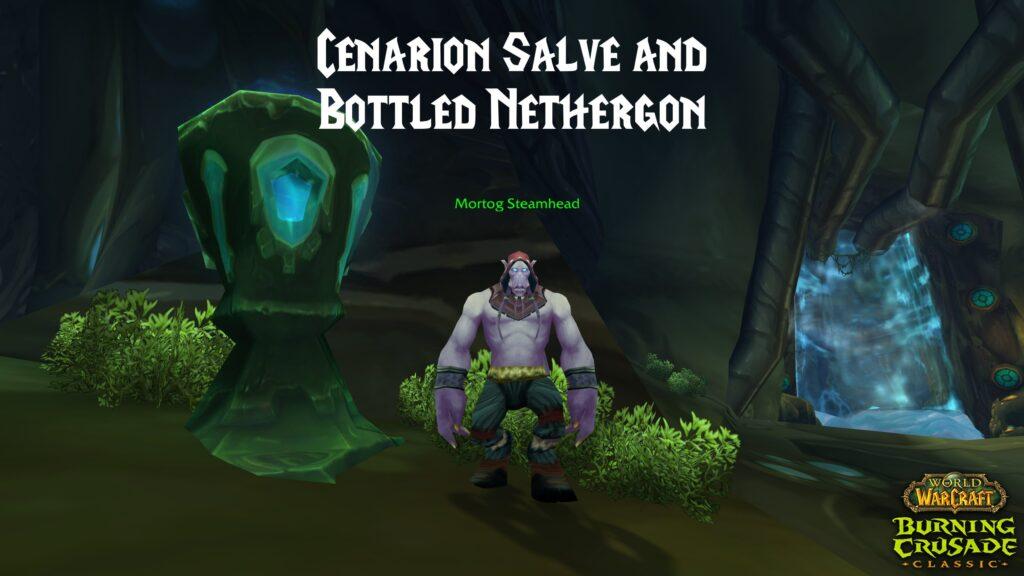 Cenarion Salve and Bottled Nethergon