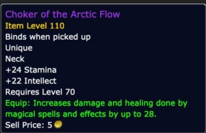 Caster DPS - Choker of the Arctic Flow