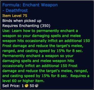 Formula: Enchant Weapon - Deathfrost