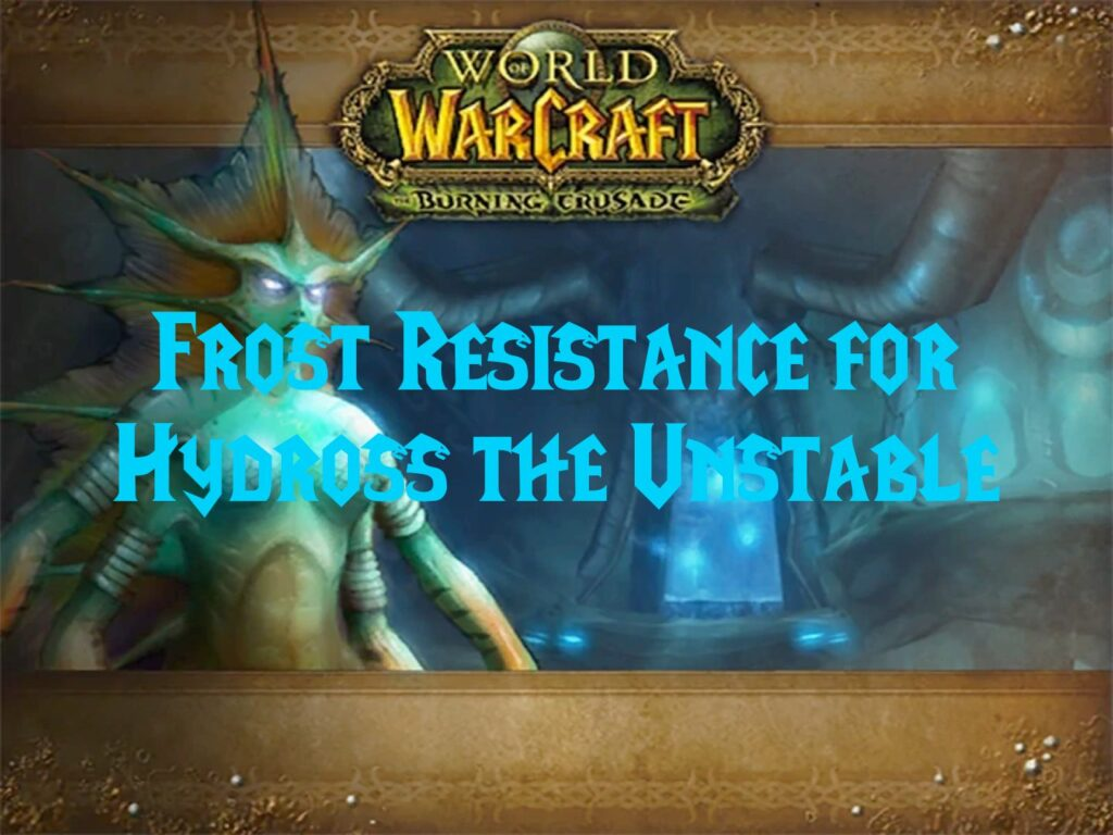 Frost Resistance for Hydross the Unstable