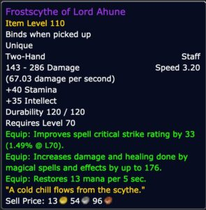 Caster DPS - Frostscythe of Lord Ahune