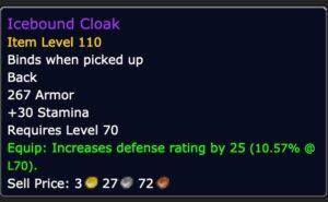Tank - Icebound Cloak