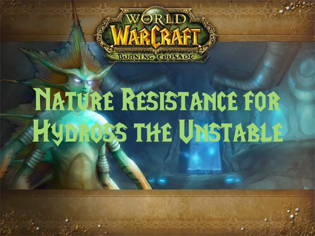 Nature Resistance for Hydross the Unstable