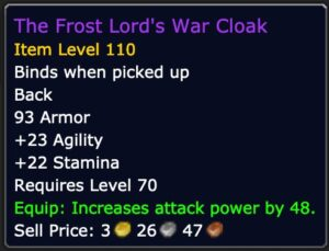 Physical DPS - The Frost Lord's War Cloak